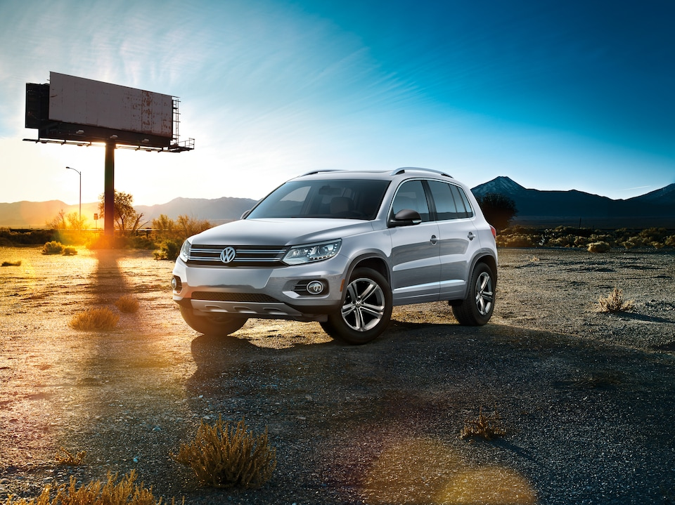 Volkswagen Tiguan by billboard