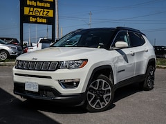 2017 Jeep Compass 4WD, Limited, Nav, Lrather, White with Black Roof SUV