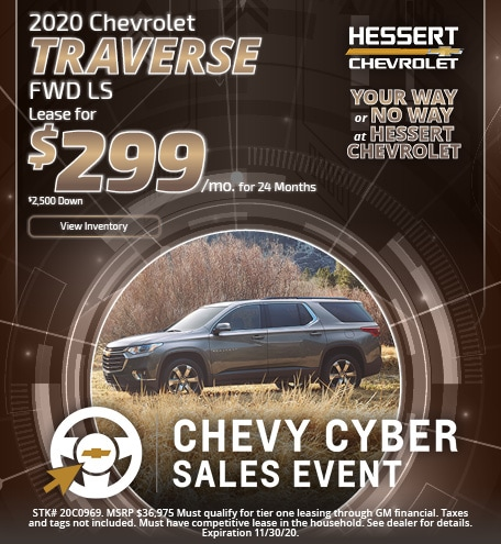 2020 Chevy Traverse   Lease Offer
