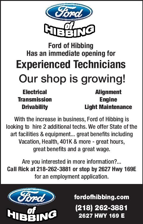 Ford Of Hibbing >> Employment Opportunities Ford Of Hibbing