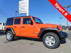 New 2019 Jeep Wrangler UNLIMITED SPORT S 4X4 Sport Utility 19040 for sale in Bluffton, IN