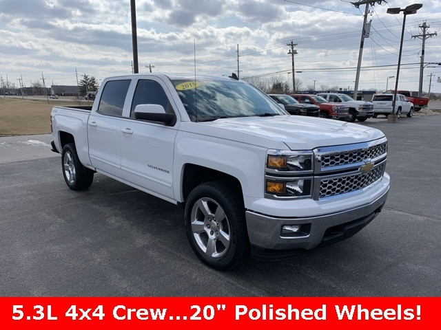 Featured Used 2015 Chevrolet Silverado 1500 LT Truck Crew Cab for sale in Bluffton, IN