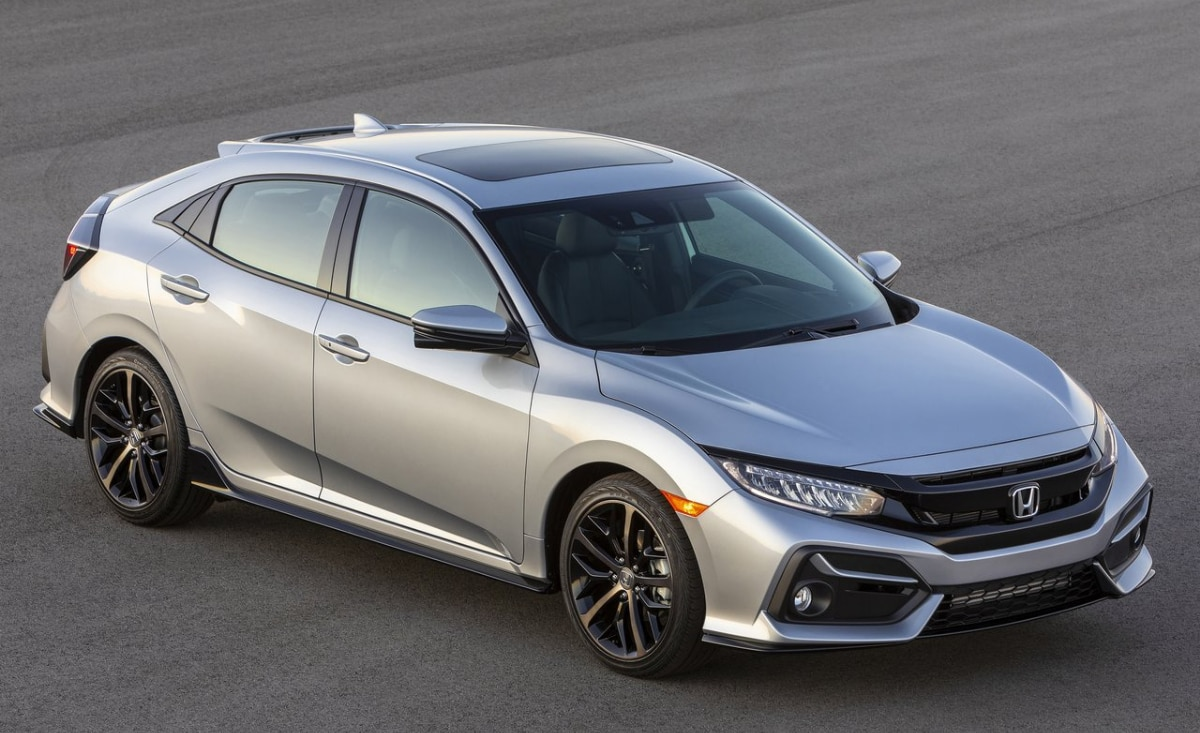 2020 Honda Civic exterior design sonic gray color