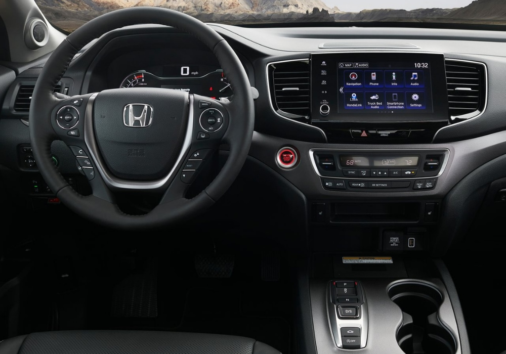 New interior design of the 2021 Honda Ridgeline