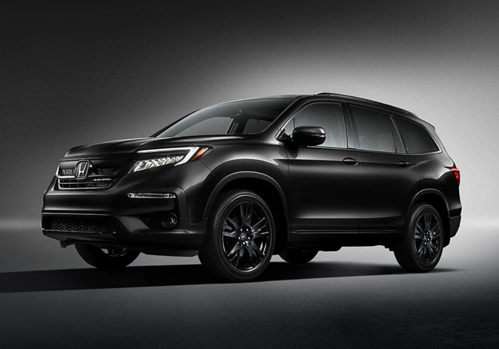 2020 Honda Pilot Black Edition trim exterior view