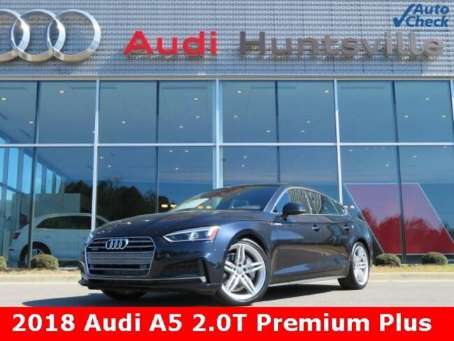 Used 2018 Audi A5 2.0T Premium Sportback for sale in Huntsville, AL at Hiley Volkswagen of Huntsville