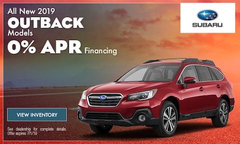 July 2019 Outback Finance Offer