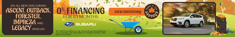 October 0% FINANCING FOR 63 MONTHS Offer