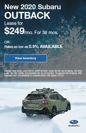 January New 2020 Subaru Outback Offers