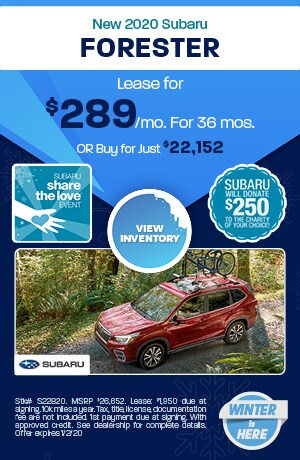 December New 2020 Subaru Forester Offers