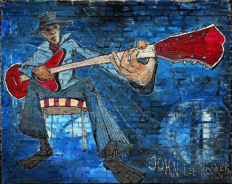 John Lee Booker Mural in Fort Worth Dallas