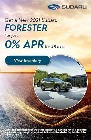 March Get a New 2021 Subaru Forester Offer