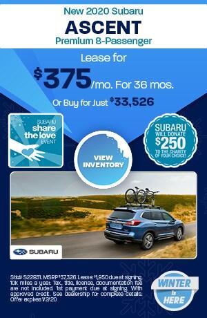December New 2020 Subaru Ascent Premium 8-Passenger Offers