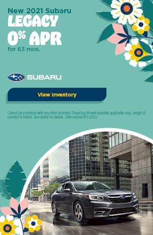 May New 2021 Subaru Legacy Offer