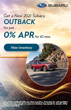 March Get a New 2021 Subaru Outback Offer