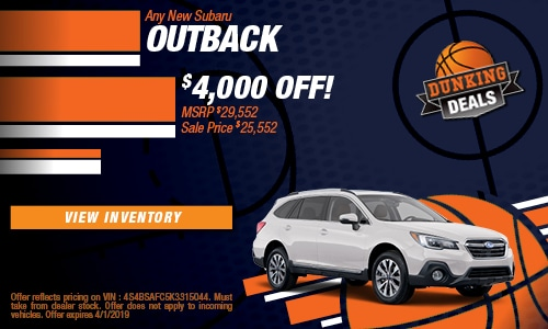 March '19 Outback Cash Offer