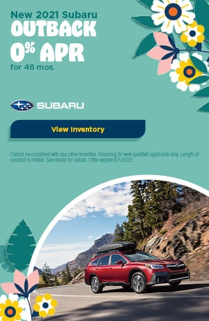 May New 2021 Subaru Outback Offer