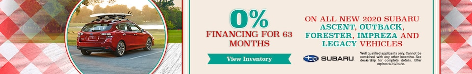 September 0% FINANCING FOR 63 MONTHS Offer