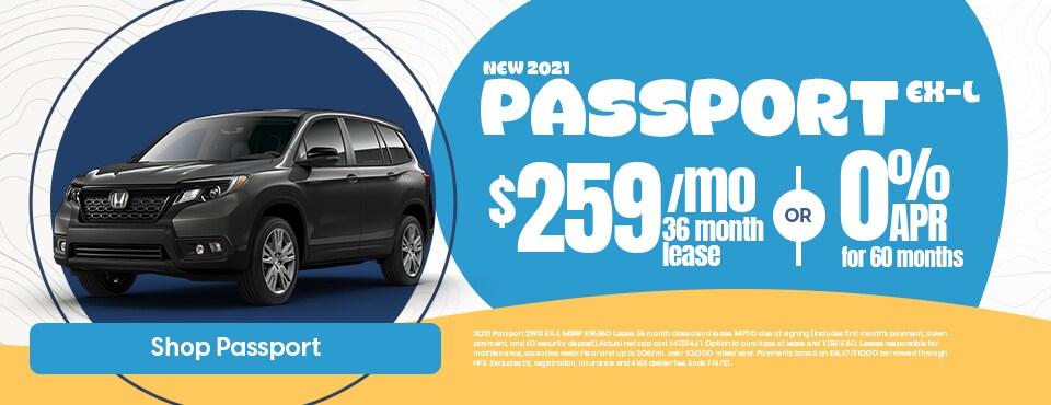 New 2021 Honda Passport Sale