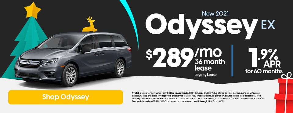 New 2021 Honda Odyssey Sale
