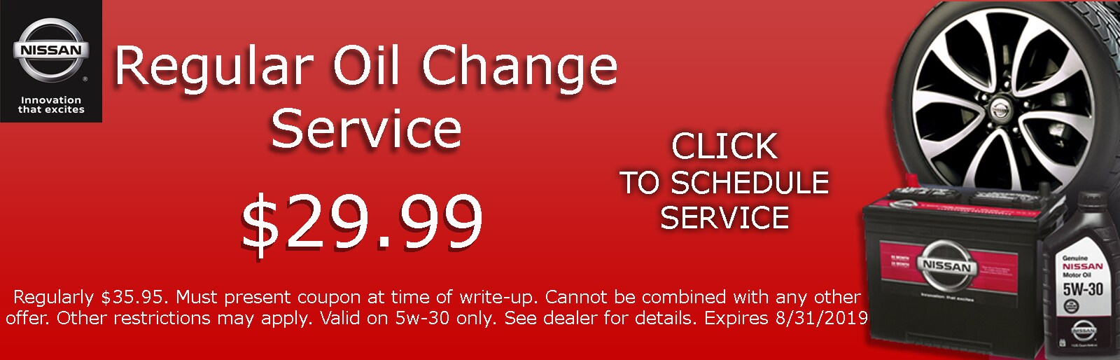 Auto Repair & Service Specials at Hill Nissan in Florida