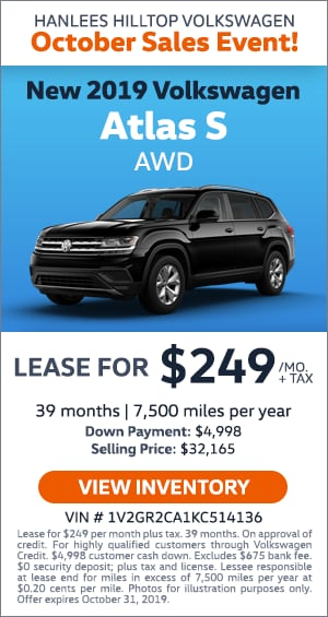 New 2019 Atlas S AWD Lease
