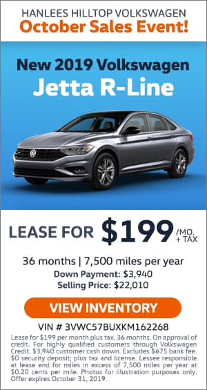 New 2019 Jetta R-Line Lease