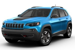 2019 Jeep Cherokee in Hydro Blue Pearl Coat