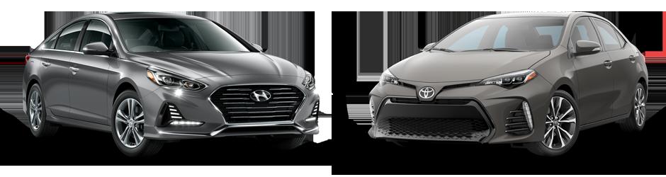 Hilton Head Toyota >> Compare 2018 Hyundai Sonata vs Toyota Corolla near ...