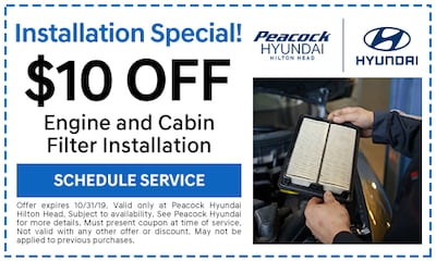 $10 off Engine and Cabin Filter Install