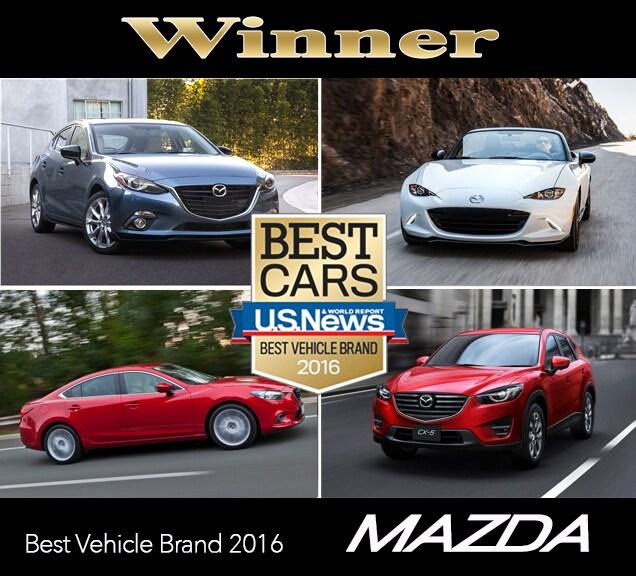 Mazda 2016 Best Vehicle Brand | John Hine Temecula Mazda