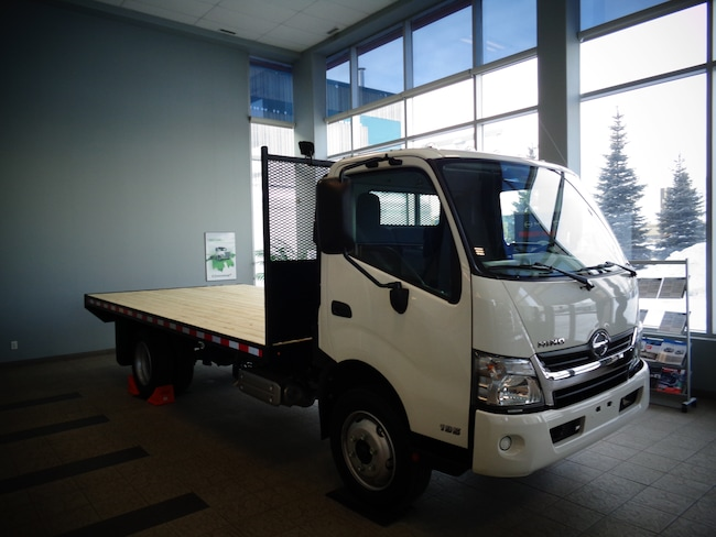 2019 HINO 195/149, 16ft. flat deck, 6 cargo winches