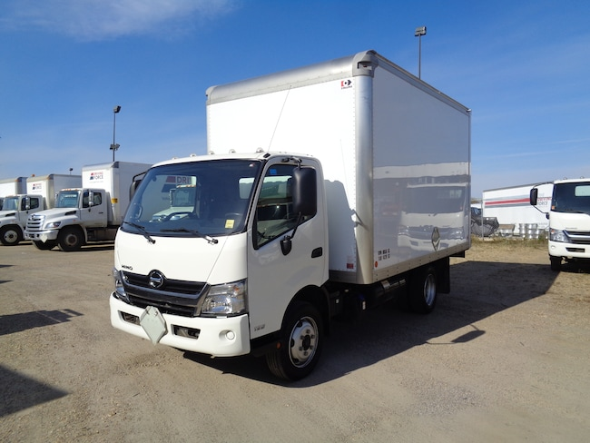 2017 HINO 195-137, 14ft. van body,  ramp
