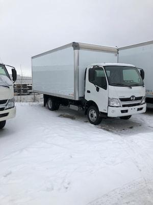 2019 HINO 155-149, 18ft.van body, ramp, GPS, Touch screen