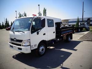 2016 HINO 195-173, Crew/Cab, Dump, Fold Down Sides, Tool Box