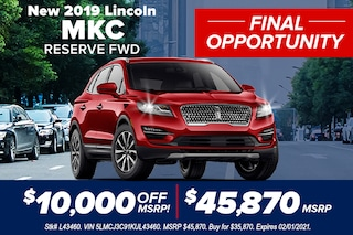 New 2019 Lincoln MKC RESERVE FWD