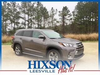 New 2019 Toyota Highlander Limited Platinum V6 SUV in Leesville, LA