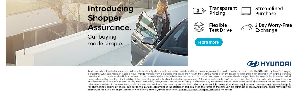 Introducing Shopper Assurance at Safford Hyundai of Springfield