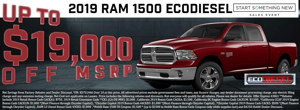 SAVE BIG!  2019 RAM 1500 EcoDiesel