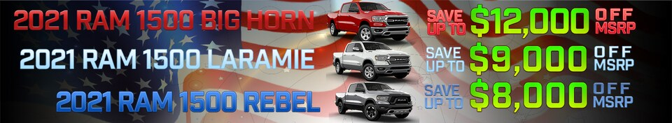 Save up to $12,000 OFF MSRP on 2021 Ram 1500 Big Horn