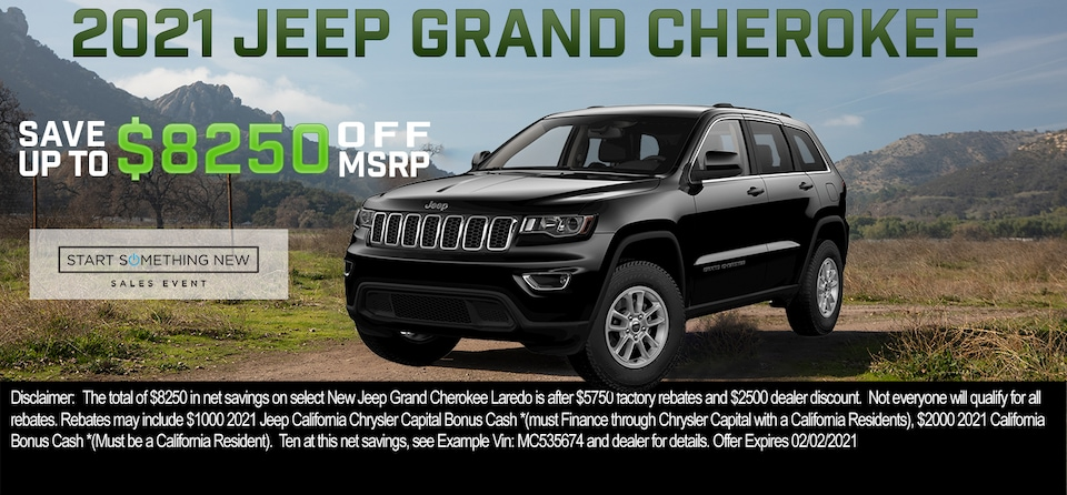 Save up to $8,250 OFF MSRP on 2021 Jeep Grand Cherokee Laredo E