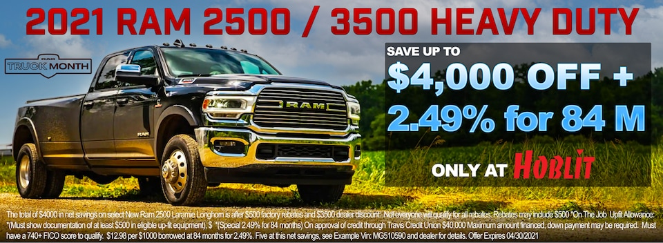Save up to $4000 OFF MSRP Plus 2.49% for 84 Months