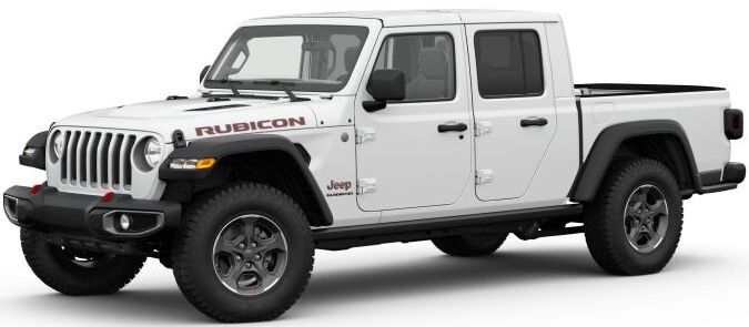 2020 Jeep Gladiator Bright White Clear-Coat Exterior Paint