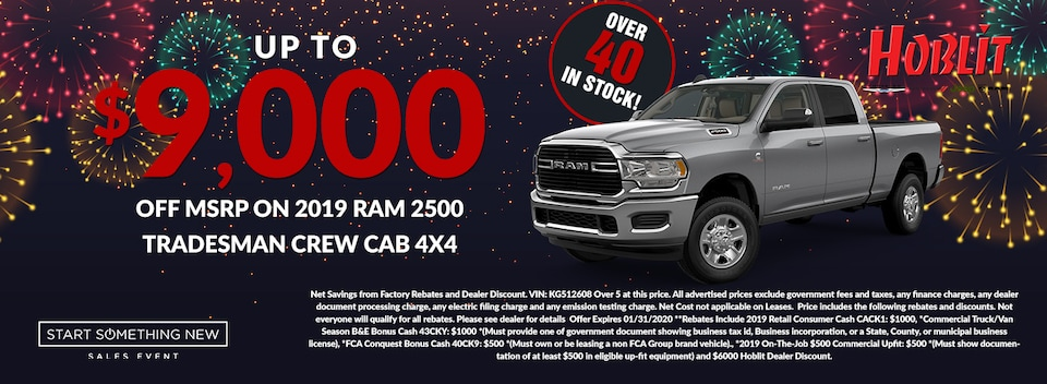 Save up to $9000 off MSRP on 2019 Ram 2500 Tradesman Crew Cab 4x4