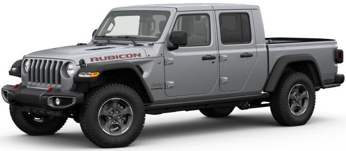 2020 Jeep Gladiator Billet Silver Metallic Clear-Coat Exterior Paint