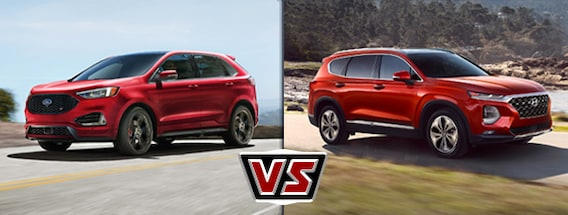 Santa Fe Ford >> 2019 Ford Edge Vs Hyundai Santa Fe Chico Area Ford