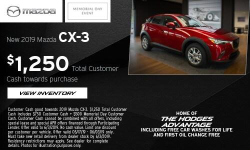 Memorial Day CX-3 Cash Offer