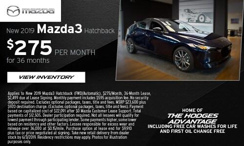 May Mazda3 Hatchback Offer at Hodges Mazda