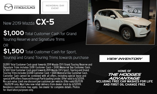 Memorial Day CX-5 Cash Offers