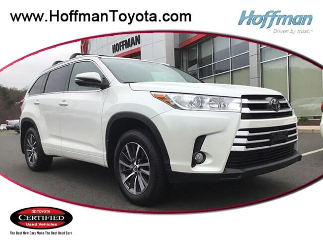 Certified Used 2018 Toyota Highlander XLE SUV near Hartford